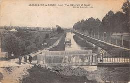 39- CPA  ABERGEMENT LA RONCE Vue Générale Et Canal - Altri Comuni