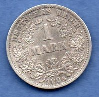 Allemagne   -  1 Mark 1904 D  -  Km # 14  -  état  TTB - [ 2] 1871-1918 : Imperio Alemán