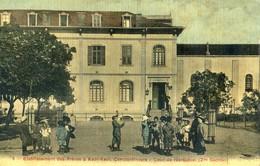 Turquie - Constantinople - Etablissement Des Freres à Kadi Keui Cour De Récréation 2 Section - Beau Dessin Au Dos - Turkey