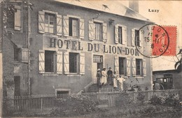 58 - CPA  LUZY Hotel Du, Lion D'Or RARE - France