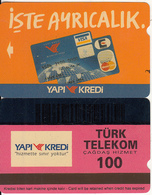 TURKEY - Yapi Kredi Bank(100 Units), 07/95, Used - Turquie
