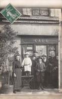 88 - CPA  Photo VAL D AJOL Café - Frankreich