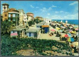 °°° Cartolina - Porto S. Giorgio La Spiaggia Viaggiata °°° - Ascoli Piceno