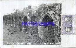 124780 PARAGUAY ENCARNACION RUINS RUINAS JESUITICA DAMAGED CIRCULTAED TO ARGENTINA  POSTAL POSTCARD - Paraguay