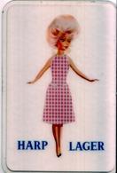 Beau Petit Calendrier De Poche Pub Ancien  Bière HARP LAGER 1963 - Calendars
