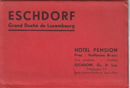 ESCHDORF - Hotel Pension (Prop. Guillaume Braas) - Carnet Complet De 5 Cartes ( Format CPA) - Esch-sur-Sure