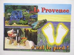 CPM CPSM CP CARTE A TROUS RÉGION PACA 2012 - LA PROVENCE C'EST LE PIED ! / GASTRONOMIE / CIGALE / LAVANDE - ED NANOU - Provence-Alpes-Côte D'Azur