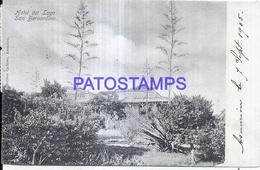 124789 PARAGUAY SAN BERNARDINO HOTEL DEL LAGO CIRCULTAED TO FRANCE POSTAL POSTCARD - Paraguay