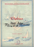 1962 YUGOSLAVIA, BOSNIA, JAJCE, WATER SKIING, FIRST MOTO-NAUTIC RACE, CERTIFICATE - Diplomas Y Calificaciones Escolares