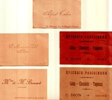 Lot 5 Anciennes Cartes De Visite PUY DE DÔME - Visiting Cards
