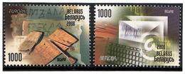 Belarus 2008 .  EUROPA 2008. Letters. 2v: 1000, 1000.   Michel # BL 705-06 - Bielorussia