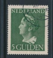 NETHERLANDS, 1946 5G  Used, NVPH 348, Cat E45 - Period 1891-1948 (Wilhelmina)