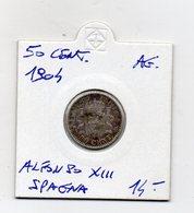 Spagna - 1904 - 50 Cent. - Alfonso XIII° - Argento - (MW2690) - Altri