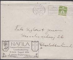 1935. 5 ØRE. NAFILA Nakskov Filatelistklubs Landsudstilling 24-25-26 August 1935. 7. ... (Michel 198) - JF304817 - 1913-47 (Christian X)