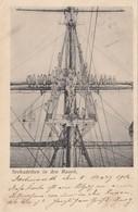 Warship ; Seekadetten In Den Raaen , Germany , 1902 - Warships