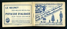 Carnet Alsace-Lorraine De 1931  - Tuberculose - Antituberculeux - Pubs Bleu - Nombreux Thèmes. - Tegen Tuberculose
