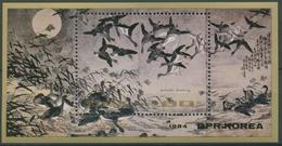 Korea (Nord) 1984 Gemälde: Herbstabend, Vögel Block 184 Postfrisch (C74697) - Korea, North