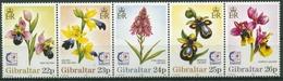 Gibraltar 1995 SINGAPORE '95: Orchideen 722/26 ZD Postfrisch (C30975) - Gibilterra