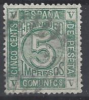 España U 0117 (o) Cifra. 1872. Foto Exacta - 1872-73 Reino: Amadeo I