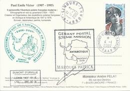 TAAF - Dumont D'Urville-T.Adélie: Carte Illustrée PE Victor Avec Timbre N°457 Emmanuel - 04/01/2007 - Franse Zuidelijke En Antarctische Gebieden (TAAF)