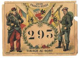 1901 UNION FRANCO RUSSE CARTON DE TIRAGE AU SORT CONSCRIPTION - Militaria