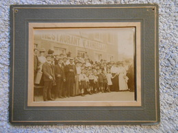 Photo 16cm Sur 13cm Moresnet Restaurant F. Vandegaar Excursion 1907 - Plombières