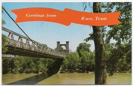 """Waco , Texas ,""""old Suspension Bridge"""" - Waco"""