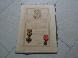Citation A L'ordre Du Regiment 82 Regiment Artillerie Lourde A Tracteurs Avec Croix De Guerre Et Medaille De Verdun - 1914-18