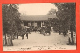 KAG-02 Montigny-sur-Loing Seine Et Marne, La Gare, Calèches, ANIME. Circulé En 1905, Précurseur - Other Municipalities