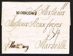 1767. Beautiful Small Envelope From København To Marsailles 30.6.1767. Porto To Hambu... () - JF104232 - Danimarca