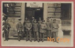 """Warszawa Varsovie Warszawa Pologne Polska Polen : Photo Carte """" Kaiserlich Deutsche Kommandantur Warschau """" Krieg 14-18 - Poland"""