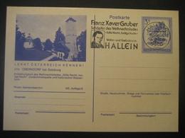 Österreich- Oberndorf Ganzsache Mit Eingedruckter 3 Schilling Marke, Gestempelt Hallein - 1981-90 Cartas