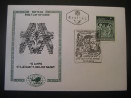 Österreich- Oberndorf 29.11.1968, FDC 150 Jahre Stille Nacht, Heilige Nacht - 1961-70 Lettres