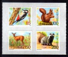 2018 Switzerland - Animals And Birds Of The Forest  - 4 V MNH** MiNr. 2527 - 2530 Dax, Woodpecker, Squirrel, Deer - Suisse