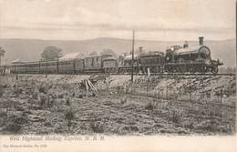 Train West Highland Mallaig Express Locomotive à Vapeur Cpa 1906 Chemin De Fer Railway Line - Trains