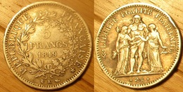 5 Francs 1849 K Hercule - France