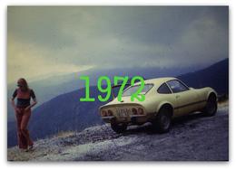 RARE PHOTO......... OPEL GT & PIN UP EN 1972 - Cars