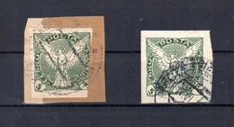 Czechoslovakia, Tschechische Republik 1920 Zeitungsmarken Mi.189, Briefstück + Gestempelt, S. Scan - Czechoslovakia