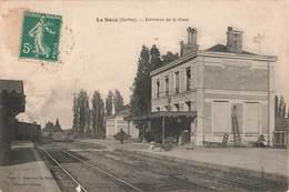 72 La Suze Interieur De La Gare , Voir état Ci Dessous - La Suze Sur Sarthe