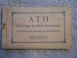 Carnet 10 Cpa Ath Cortège Fêtes Communales - Ath