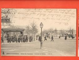 KAG-13 Neuilly-sur-Seine Stration Des Tramways, TRES ANIME. Précurseur, Circulé 1904 Vers Houlgate - Neuilly Sur Seine