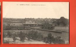 KAG-14 Cercy-la-Tour  La Gare, Train. Circulé Sous Enveloppe En 1916, écrite Par Un Militaire Paysan à Sa Famille - Altri Comuni