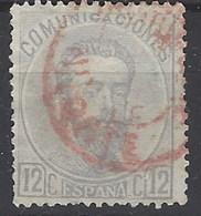 España U 0122 (o) Amadeo. 1872. Foto Exacta - 1872-73 Reino: Amadeo I