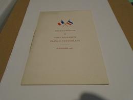 PROGRAMME D'INAUGURATION DU CABLE SOUS-MARIN FRANCO-YOUGOSLAVE DU 18 FEVRIER 1937 - Programmes