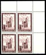 ÖSTERREICH 1947 Nr 823 Postfrisch VIERERBLOCK ECKE-ORE X36BB26 - 1945-60 Nuevos & Fijasellos