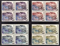 MONACO 1969 / 1975 - SERIE 4 BLOCS DE 4 TP / N° 34 A 37  - 4 PREO.  NEUFS** - Monaco