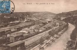 19 Tulle Vue Générale De La Gare Trains Train Wagon Wagons Marchandise Locomotive - Tulle