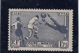France - 1938 - N° YT 396** - 3è Coupe Mondiale De Football à Paris - Nuovi