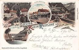 GRUSS Aus KLEIN REIFLING AUSTRIA ~ BAHNHOF - ENNSBRUKE - 1897 MULTI IMAGE KUNSTLER #1340 POSTCARD 42520 - Other