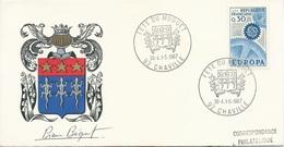 Lettre Avec Cachet Commémoratif Fête Du Muguet - Chaville - 30 Avril / 1er Mai 1967 - Marcofilie (Brieven)